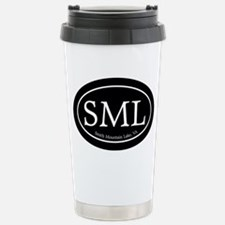 SML.ovalsticker.black Stainless Steel Travel Mug