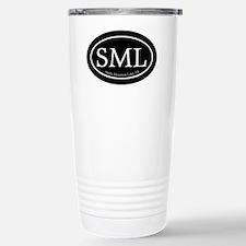 SML.ovalsticker.black Travel Mug