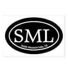 SML.ovalsticker.black Postcards (Package of 8)