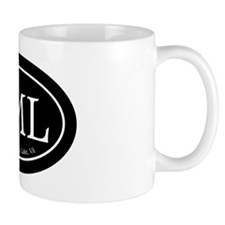 SML.ovalsticker.black Mug