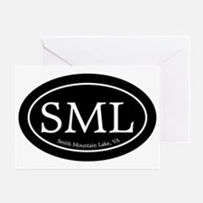 SML.ovalsticker.black Greeting Card