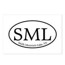 SML.ovalsticker.white Postcards (Package of 8)