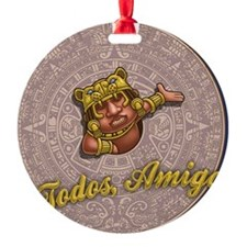 mayan-cal-toon2-OV Ornament