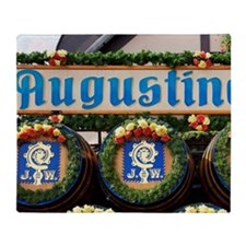 Munich. Decorated barrels of beer at Throw Blanket