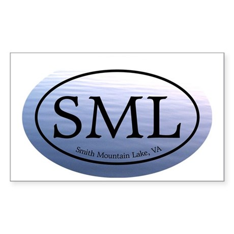 SML.ovalsticker.bluewater Sticker (Rectangle)