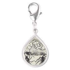 Medieval Map Music and Spid Silver Teardrop Charm