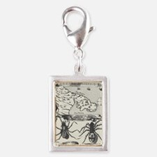 Medieval Map Music and Spide Silver Portrait Charm