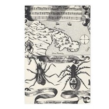 Medieval Map Music and Sp Postcards (Package of 8)