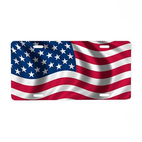 usflag Aluminum License Plate