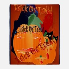 LargePoster Trick Or Treat Throw Blanket