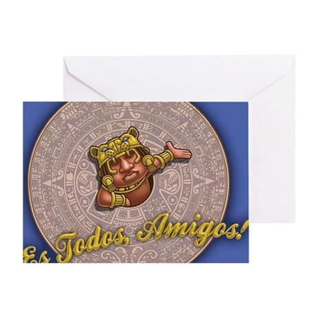 mayan-cal-toon2-TIL Greeting Card
