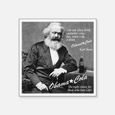 "karl_marx-1b Square Sticker 3"" x 3"""