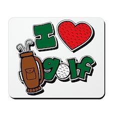 I love golf, colored2 grapic Mousepad