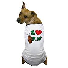 I love golf, on black colored2 grapic Dog T-Shirt
