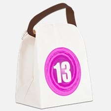 B-DAY-PINK 13TH Canvas Lunch Bag