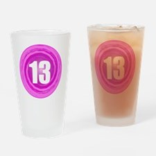B-DAY-PINK 13TH Drinking Glass
