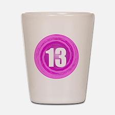 B-DAY-PINK 13TH Shot Glass