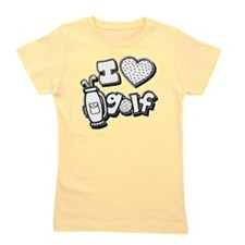 I love golf, black2 grapic Girl's Tee