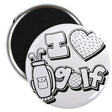 I love golf, black2 grapic Magnet