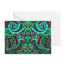 Bags Neon Funk Greeting Card