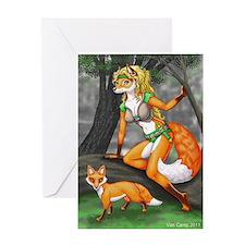 Summon fox 8x10 Greeting Card