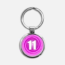B-DAY-PINK 11TH Round Keychain