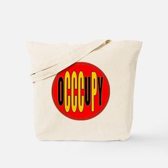 oCCCuPy logo round Tote Bag