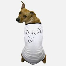 Drink-and-derive-3d-whiteLetters copy Dog T-Shirt