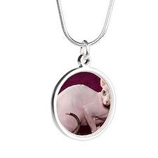 Sphynx10 Silver Round Necklace