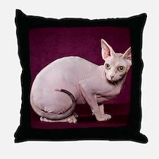 Sphynx10 Throw Pillow
