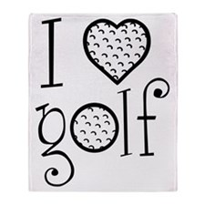 I love golf, white grenouille Throw Blanket