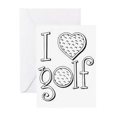 I love golf, black grenouille Greeting Card