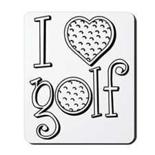 I love golf, black grenouille Mousepad