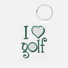 I love golf, GBW grenouill Keychains