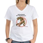 Archaeologists Don't Dig Dinosaurs Women's V-Neck