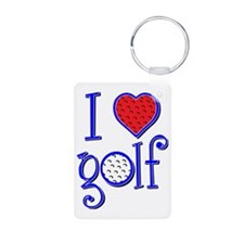 I love golf, RWB grenouill Keychains