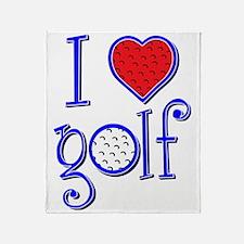 I love golf, RWB grenouille Throw Blanket