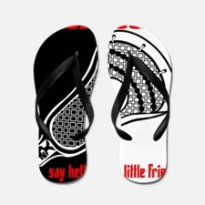 Lacrosse Say Hello Flip Flops