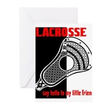 Lacrosse Say Hello Greeting Cards (Pk of 10)