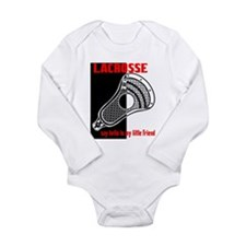Lacrosse Say Hello Long Sleeve Infant Bodysuit