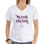 Lovely Baby Bump Women's V-Neck T-Shirt