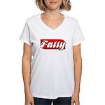 Fatty Women's V-Neck T-Shirt