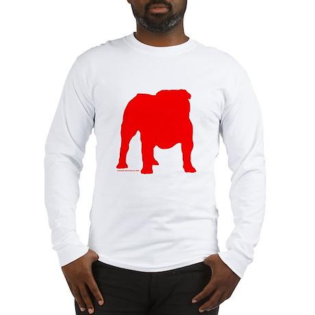 Red Bulldog Silhoutte Long Sleeve T-Shirt