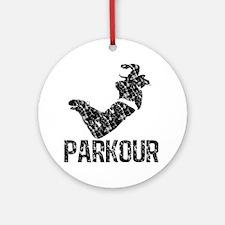 distressed parkour Round Ornament
