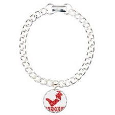 distressed parkour red Charm Bracelet, One Charm