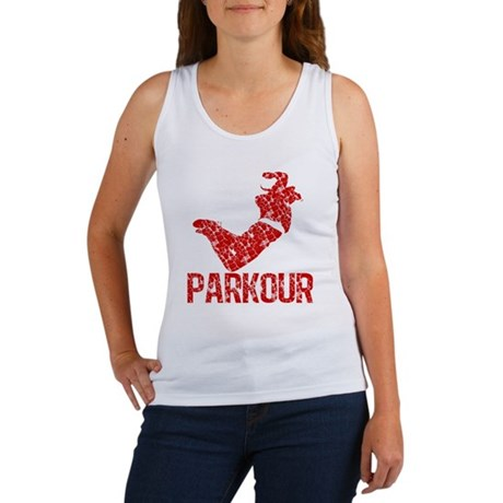 distressed parkour red Women's Tank Top