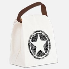 distressed star Canvas Lunch Bag