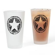 distressed star Drinking Glass