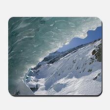 BLANC: Le Montenvers / Winter Mer de Gla Mousepad