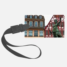 Gabled architecture and statue o Luggage Tag
